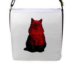 Watermelon Cat Flap Messenger Bag (l)  by Valentinaart
