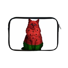 Watermelon Cat Apple Ipad Mini Zipper Cases by Valentinaart