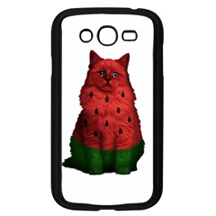 Watermelon Cat Samsung Galaxy Grand Duos I9082 Case (black) by Valentinaart