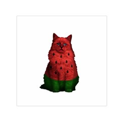 Watermelon Cat Small Satin Scarf (square) by Valentinaart