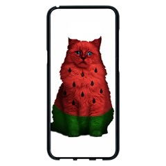 Watermelon Cat Samsung Galaxy S8 Plus Black Seamless Case by Valentinaart