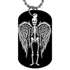 Angel Skeleton Dog Tag (two Sides) by Valentinaart