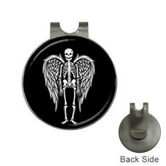 Angel Skeleton Hat Clips With Golf Markers by Valentinaart
