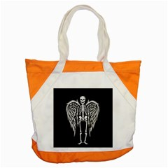 Angel Skeleton Accent Tote Bag by Valentinaart