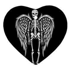 Angel Skeleton Heart Ornament (two Sides) by Valentinaart