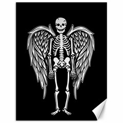 Angel Skeleton Canvas 12  X 16   by Valentinaart