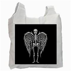Angel Skeleton Recycle Bag (one Side) by Valentinaart