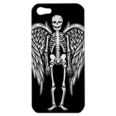 Angel Skeleton Apple Iphone 5 Hardshell Case by Valentinaart
