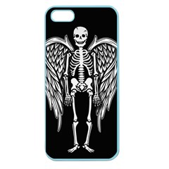 Angel Skeleton Apple Seamless Iphone 5 Case (color) by Valentinaart