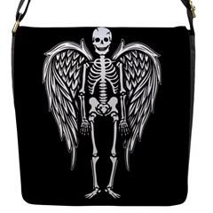 Angel Skeleton Flap Messenger Bag (s) by Valentinaart