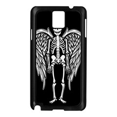 Angel Skeleton Samsung Galaxy Note 3 N9005 Case (black) by Valentinaart