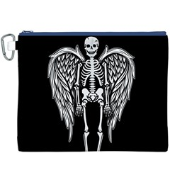 Angel Skeleton Canvas Cosmetic Bag (xxxl) by Valentinaart