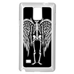 Angel Skeleton Samsung Galaxy Note 4 Case (white) by Valentinaart