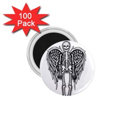 Angel Skeleton 1 75  Magnets (100 Pack)  by Valentinaart