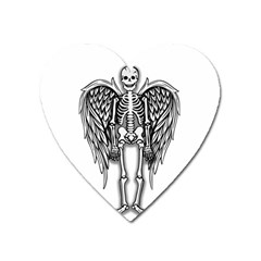 Angel Skeleton Heart Magnet by Valentinaart