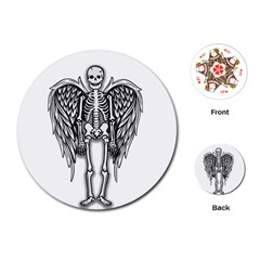 Angel Skeleton Playing Cards (round)  by Valentinaart