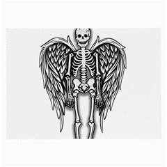 Angel Skeleton Large Glasses Cloth (2 Side) by Valentinaart