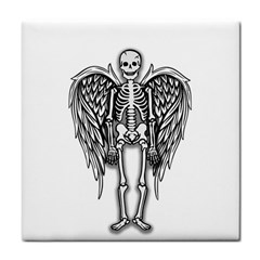 Angel Skeleton Face Towel by Valentinaart
