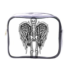 Angel Skeleton Mini Toiletries Bags by Valentinaart