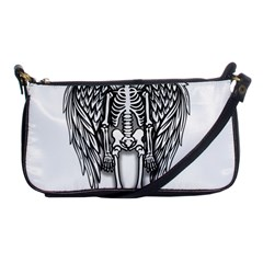 Angel Skeleton Shoulder Clutch Bags by Valentinaart