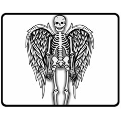Angel Skeleton Fleece Blanket (medium)  by Valentinaart