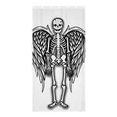 Angel Skeleton Shower Curtain 36  X 72  (stall)  by Valentinaart
