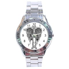 Angel Skeleton Stainless Steel Analogue Watch by Valentinaart