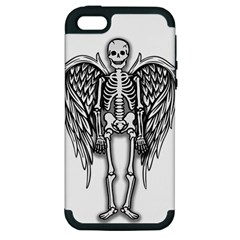 Angel Skeleton Apple Iphone 5 Hardshell Case (pc+silicone) by Valentinaart