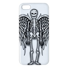 Angel Skeleton Apple Iphone 5 Premium Hardshell Case by Valentinaart