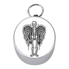 Angel Skeleton Mini Silver Compasses by Valentinaart