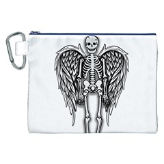 Angel Skeleton Canvas Cosmetic Bag (xxl) by Valentinaart