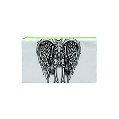 Angel Skeleton Cosmetic Bag (xs) by Valentinaart