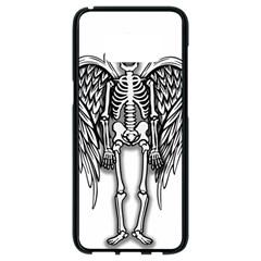 Angel Skeleton Samsung Galaxy S8 Black Seamless Case by Valentinaart