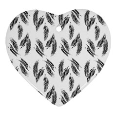 Feather Pattern Ornament (heart)