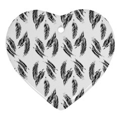 Feather Pattern Heart Ornament (two Sides) by Valentinaart
