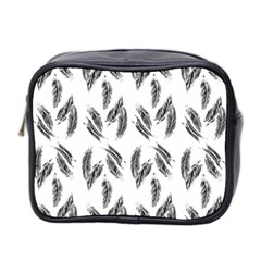 Feather Pattern Mini Toiletries Bag 2 Side by Valentinaart