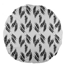 Feather Pattern Large 18  Premium Flano Round Cushions by Valentinaart