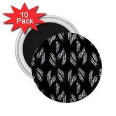 Feather Pattern 2 25  Magnets (10 Pack)  by Valentinaart