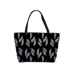 Feather Pattern Shoulder Handbags by Valentinaart