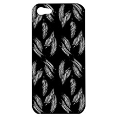 Feather Pattern Apple Iphone 5 Hardshell Case by Valentinaart