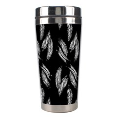 Feather Pattern Stainless Steel Travel Tumblers by Valentinaart