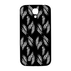 Feather Pattern Samsung Galaxy S4 I9500/i9505  Hardshell Back Case by Valentinaart