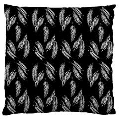 Feather Pattern Large Flano Cushion Case (two Sides) by Valentinaart