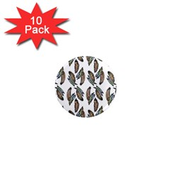 Feather Pattern 1  Mini Magnet (10 Pack)  by Valentinaart