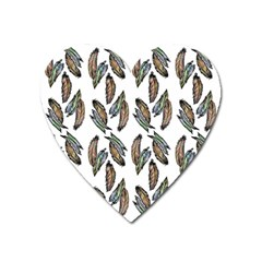 Feather Pattern Heart Magnet by Valentinaart