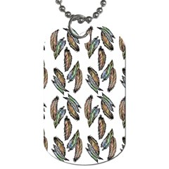 Feather Pattern Dog Tag (one Side) by Valentinaart