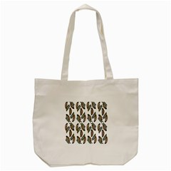 Feather Pattern Tote Bag (cream) by Valentinaart