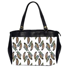 Feather Pattern Office Handbags (2 Sides)  by Valentinaart