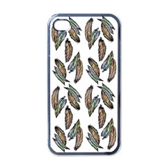 Feather Pattern Apple Iphone 4 Case (black) by Valentinaart
