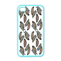 Feather Pattern Apple Iphone 4 Case (color) by Valentinaart